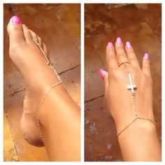 Cross Hand and Foot Chain.