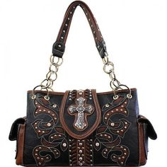 Concealed Carry Cross Buckle Handbag