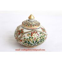 Marble Trinket Box - Online shopping INDIA - Buy Handicrafts,Gifts, Crafts, home decor, Decorative, Indian Handicrafts, Paintings, Wall decor Items