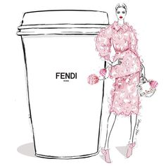 I'll take my coffee with little Couture and lots of pom poms..... I'll have a giant FENDI please! #MeganHessCoffeeGirls