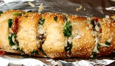 Spinach Stuffed Garlic Bread   Cooking's Good Vegetarian Cafe