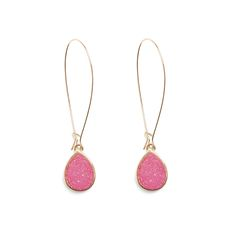 Dress up any fall look with a pair of druzy stone, drop earrings. Repin to let your Stitch Fix Stylist know you love them.