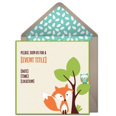Free woodland friends invitations pinterest free baby shower foxandowlonlineinvitationfrompunchbowl filmwisefo