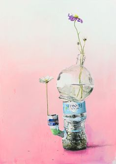 Dane Lovett - Beautiful Art. Cosmos Vessel, 2012, acrylic on canvas, year 10 - man made vs nature
