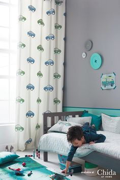 Make it exciting. Elegant boys curtains from the Chida Elegance collection.