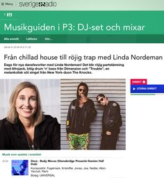 Thank you Linda Nordeman for the awesome Sweden National Radio P3 drop of DNCE - Body Moves (StoneBridge Presents: Damien Hall Dub) https://youtu.be/uO81SEN23fc