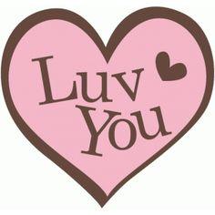 Silhouette Design Store: heart luv you
