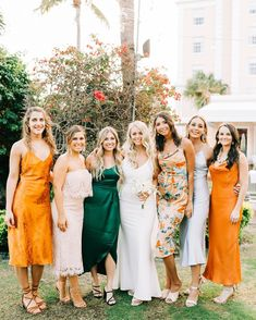 """Carats & Cake on Instagram: """"Bridesmaid gowns in every shade! 🌈 Cheerful, sophisticated—with memorable hues and patterns—your bridal party can wear every color of the…"""" Wedding Attire, Diy Wedding, Dream Wedding, Wedding Things, Wedding Ideas, Marriage Day, Bridesmaid Dresses, Wedding Dresses, Bridesmaids"""