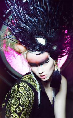 """The Grand Illusion"" | Model: Sidsel Grubbe, MUA: Sara Johnsen-Zaavi, Hair: Nicolas Grivaz, Photographer: Polina Vinogradova, 2011"
