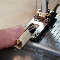 Mastering the Narrow Hemmer - another foot I have for my sewing machine that I've never used.