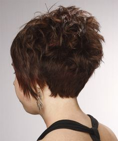 short hair side and back view | Formal Short Straight Hairstyle - - 10992 | TheHairStyler.com