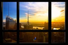 Window View, Special Series, Sunset, Manhattan, New York City, United States Wall Mural by Philippe Hugonnard at AllPosters.com