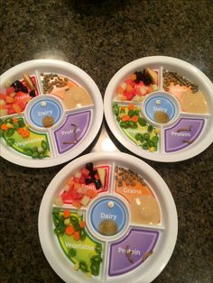 Baby Feeding Hot Sale Munchkin Balanced Meal Toddler Divided Plate Fruits Grains Proteins Veggies