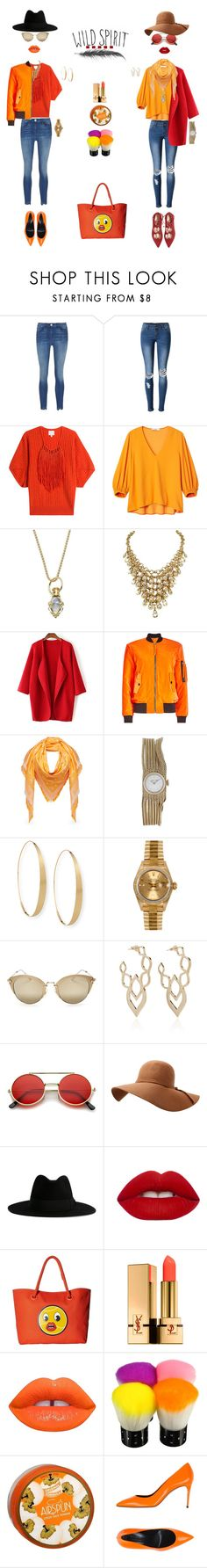 """""""wild.spirit"""" by k-hearts-a ❤ liked on Polyvore featuring WithChic, Claudia Schiffer, TIBI, Temple St. Clair, Moschino, MCM, Rolex, Lana, Miu Miu and Two of Most"""