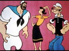 Popeye desenhos clássicos dublados completos, Olivia Palito, Brutus, Jee...