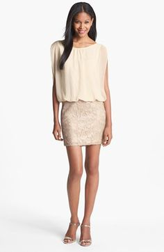 Aidan Mattox Embellished Blouson Dress (Online Only) available at #Nordstrom