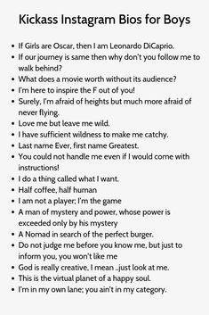 Clever Captions For Instagram, Instagram Captions Boyfriend, Good Quotes For Instagram, Instagram Captions For Friends, Good Bio Quotes, Bio Quotes Short, Insta Bio Quotes, Inspirational Quotes, Captions For Guys