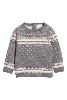 Jacquard-knit jumper   H&M