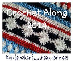 Crochet Along 2014 - duizenden mensen haken een gestreepte deken in 2014