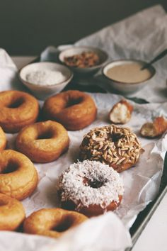 homemade donuts.