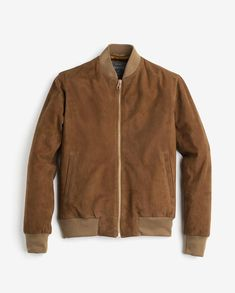 An understated, luxurious piece for every mans' wardrobe, the Deluxe Suede Bomber Jacket is a second interpretation of one of Private White V.C's most popular sty. Suede Jacket, Bomber Jacket, Leather Jacket, Mens Gloves, Jackets, Clothes, Men's Style, Goat, Handsome
