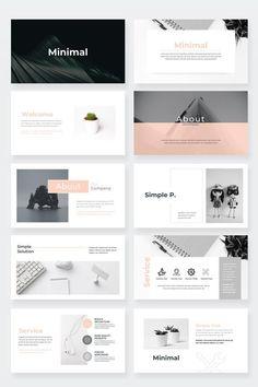 Minimal Keynote Presentation Template - Keynote - Ideas of Keynote - Portfolio Design Layouts, Layout Design, Web Design, Design Portfolios, Graphic Design, Presentation Board Design, Architecture Presentation Board, Presentation Slides, Presentation Folder
