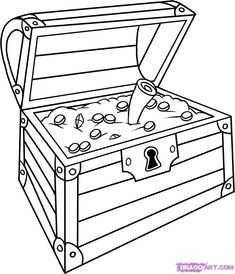 treasure chest pictures to print and color | images of how to draw a chest step by stuff pop culture free online ...