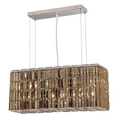 Elegant Lighting 2018D32CGTSS Maxim Collection 8Light Hanging Fixture Swarovski StrassElements Golden Teak Crystals with Chrome Finish -- Find out more about the great product at the image link. (Note:Amazon affiliate link)