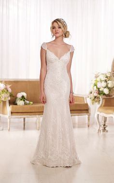 Wedding Dresses | Sheath Bridal Gown | Essense of Australia