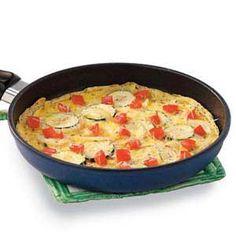 Parmesan Zucchini Omelet Recipe