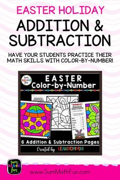 Your students will ask for more practice of addition and subtraction facts with this pack! This Color by Number Easter packet is a way for students to practice and review addition and subtraction facts while being completely focused and having fun! And, they are differentiated! The targeted strategies for each page are Make Ten (Fast Tens) and Turn Around Facts (Flip Flop Facts).