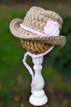 Crochet Baby Cowgirl Hat