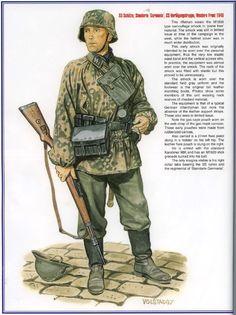 """Waffen SS - SS-Schuetze, Standarte """"Germania"""", SS- Verfugungstruppe, Francia 1940"""