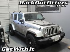 Rack Outfitters - Jeep Wrangler Unlimited Thule Gutter Foot Square Bar Roof Rack, $242.90 (http://www.rackoutfitters.com/jeep-wrangler-unlimited-thule-gutter-foot-square-bar-roof-rack/)