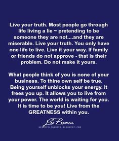Quotes: Live from the GREATNESS within you. ~ Les Brown