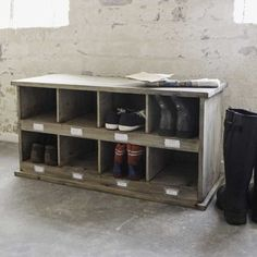 The Worm that Turned - Chedsworth Shoe Locker - Inspired by traditional school lockers, this vintage styled shoe tidy is a wonderful neat and tidy way of storing all those stray trainers, gardening clogs and even wellies for the mini members of the family.