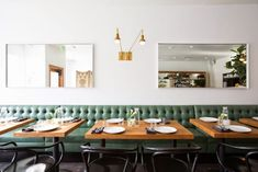 I don't know why, but I want a green banquette in my kitchen.