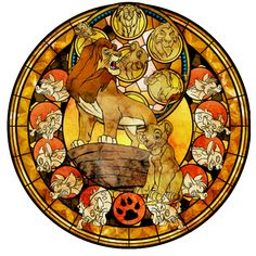 From the black Cauldron, one of Disney's older movies. Artwork by me Eilonwy and Kingdom Hearts (c) Disney and Square Enix used: photoshop *edit: small change to th. Lion King Fan Art, Lion King 2, Lion King Movie, Arte Disney, Disney Love, Disney Magic, Le Roi Lion Disney, Disney Lion King, Disney Stained Glass