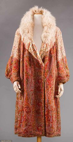 Coat, wool with fur, no location available, early 20th century