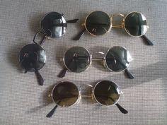 Lot Of 4 Sunglasses With Round Lenses 70s 60s Hippie Goa Glasses Set 9 Seventies