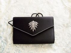 OOAK Upcycled Magid Black Evening Purse by YoursOccasionally, $33.00