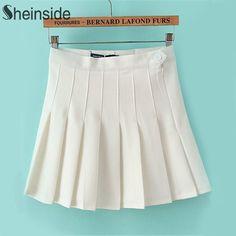 Find More Skirts Information about Sheinside White High Waist Pleated Skirt,High Quality skirt thong,China skirt high waist Suppliers, Cheap skirt accessories from Sheinside Group Ltd on Aliexpress.com