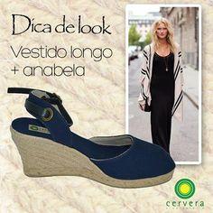 Dica de look infalível para quem quer mais conforto e estilo: vestido longo + anabela!