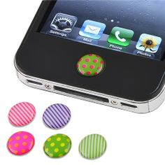 Pieces Home Button Sticker compatible with Apple? Iphone? / iPad? / iPod? touch, Dot / Strip