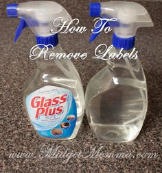 How To Remove Labels From Containers