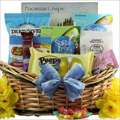 New blog post carb counting jelly beans for easter portion out 15 happy easter sugar free gourmet easter gift basket negle Image collections