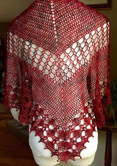 Ravelry: LeasaGraham's Red Hot Breeze Crochet Shawl