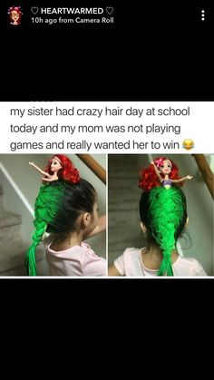 # funny Hairstyles for kids Funny Cute, The Funny, Hilarious, Crazy Hair Days, Funny Memes, Memes Humor, Funny Posts, Laugh Out Loud, Just In Case