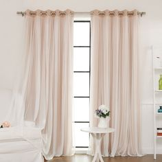 Found it at Joss & Main - Tulle Blackout Grommet Curtain Panel