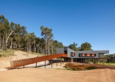 Located in the bush land of Australia the Nannup Holiday House was designed by Iredale Pedersen Hook